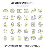 set vector line icons with open ...   Shutterstock .eps vector #459089833