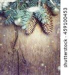 christmas fir tree with...   Shutterstock . vector #459100453
