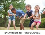 Children Playing Tug War Park - Fine Art prints