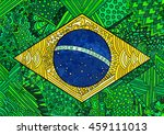 brazil flag. ethnic national... | Shutterstock .eps vector #459111013