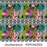 succulents cacti plant vector... | Shutterstock .eps vector #459146203