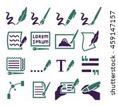writing icon set | Shutterstock .eps vector #459147157
