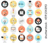 flat conceptual icons set of... | Shutterstock .eps vector #459154393