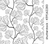 seamless pattern with lily... | Shutterstock .eps vector #459162283