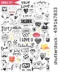doodles set   love   Shutterstock .eps vector #459167833