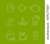 tea icons set. vector isolated... | Shutterstock .eps vector #459177007