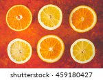 lemon and orange slices on the
