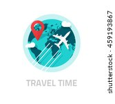 travelling around the world by... | Shutterstock .eps vector #459193867