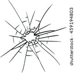 broken glass vector | Shutterstock .eps vector #459194803