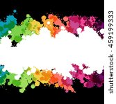 collection of paint rainbow... | Shutterstock .eps vector #459199333