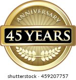 forty five years anniversary... | Shutterstock .eps vector #459207757