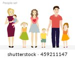 people and children vector at... | Shutterstock .eps vector #459211147