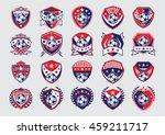 soccer logo set | Shutterstock .eps vector #459211717