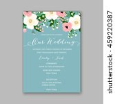 wedding card or invitation with ... | Shutterstock .eps vector #459220387
