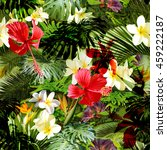 tropical floral pattern. exotic ... | Shutterstock . vector #459222187