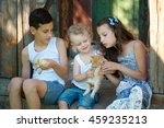 brother and sister spend summer ... | Shutterstock . vector #459235213
