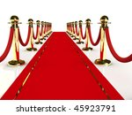 red carpet path on a brown... | Shutterstock . vector #45923791