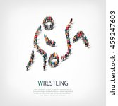 people sports wrestling vector   Shutterstock .eps vector #459247603