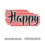 happy text icon | Shutterstock .eps vector #459261043