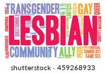 lesbian word cloud on a white... | Shutterstock .eps vector #459268933