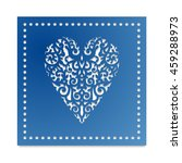 template card heart with... | Shutterstock .eps vector #459288973