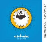 creative sheep illustration on... | Shutterstock .eps vector #459299317