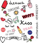 stickers  patches and... | Shutterstock .eps vector #459302197