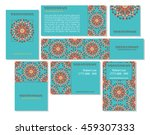 collection of ethnic cards menu ... | Shutterstock .eps vector #459307333