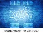 digital abstract technology... | Shutterstock . vector #459313957