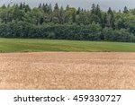 wheat field with windmill and... | Shutterstock . vector #459330727