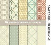 10 geometric seamless patterns... | Shutterstock .eps vector #459333997