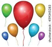set of shiny vector balloons... | Shutterstock .eps vector #459345283