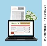 online digital invoice laptop... | Shutterstock .eps vector #459345397