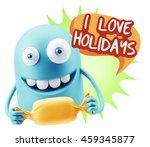 3d rendering. candy gift... | Shutterstock . vector #459345877