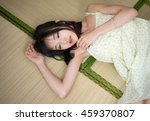 asian girl sleeping on tatami...   Shutterstock . vector #459370807