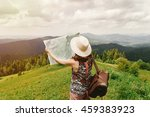 wanderlust. stylish hipster... | Shutterstock . vector #459383923