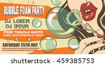 bubble foam party poster layout.... | Shutterstock .eps vector #459385753