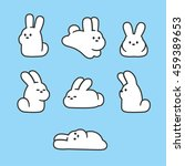 Cute Cartoon Rabbits Set....