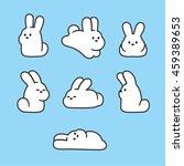 Cute Cartoon Rabbits Set....