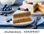 vegan  raw carrot cake. healthy ... | Shutterstock . vector #459399457