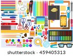 office stationery set of vector