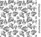 seamless handcrafted pattern... | Shutterstock .eps vector #459409963