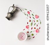 Tea Cup With Various Natural...