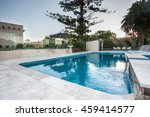 luxury swimming pool view with... | Shutterstock . vector #459414577