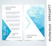 vector modern flyer  poster or... | Shutterstock .eps vector #459416977