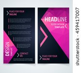 vector modern flyer  poster or...   Shutterstock .eps vector #459417007