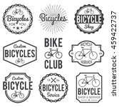 bicycle badges labels set. bike ... | Shutterstock .eps vector #459422737