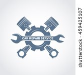 vector monochrome car service... | Shutterstock .eps vector #459425107
