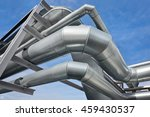 large pipes of ventilation... | Shutterstock . vector #459430537