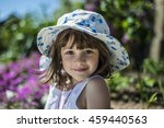 happy little girl in a hat | Shutterstock . vector #459440563